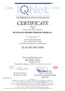 Quality Management System Ceritificate (IQNET)
