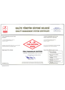 Quality Management System Ceritificate (TSE)