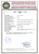 Certificate Of Comformity to Turkish Standards